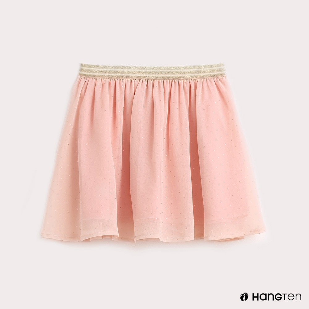 Hang Ten-童裝浪漫點點休閒針織裙- 粉紅