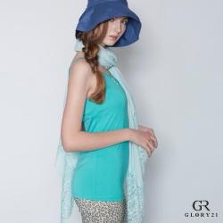 GLORY21 細肩帶背心_藍綠