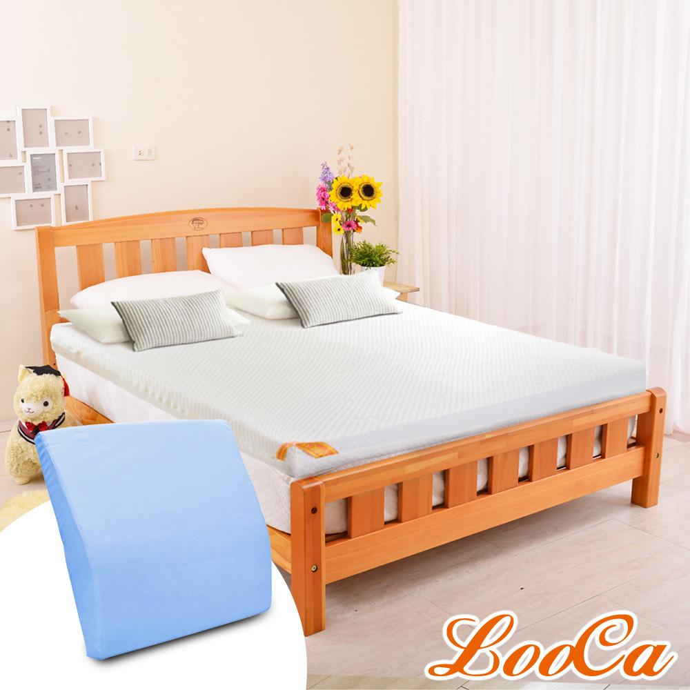 (母親節特惠組)LooCa 特級天絲12cm釋壓記憶床墊-加大6尺