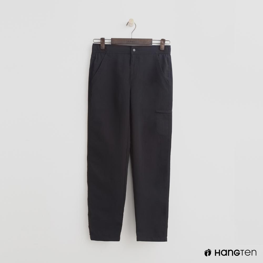 Hang Ten - 女裝 - ThermoContro-鬆緊機能口袋束口褲-黑