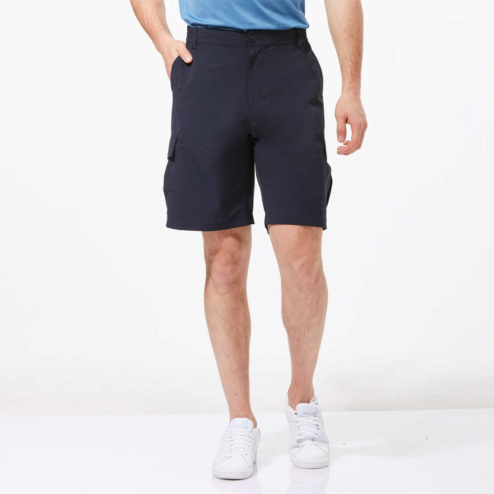 【HAKERS 】男 抗UV快乾彈性短褲-深軍藍