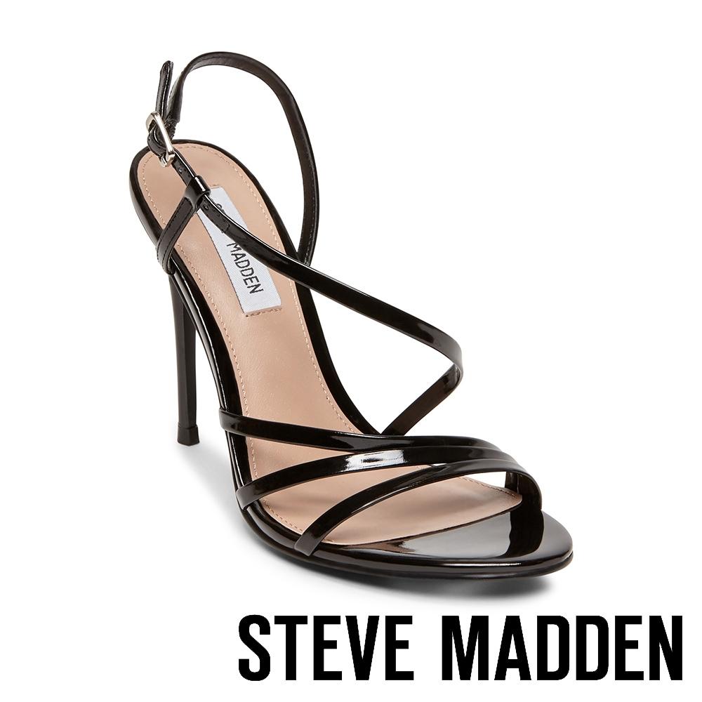 STEVE MADDEN-EDIE 露趾繞踝細高跟涼鞋-黑色