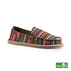 SANUK 繽紛條紋懶人鞋-女款(粉色)
