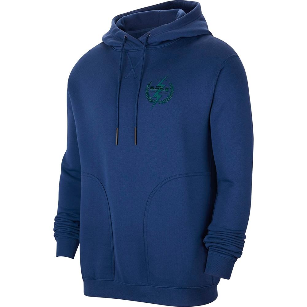 NIKE 上衣 連帽上衣 帽T 運動 訓練 刷毛 保暖 男款 藍 CK6767490 AS LEBRON M NK HOODIE PO