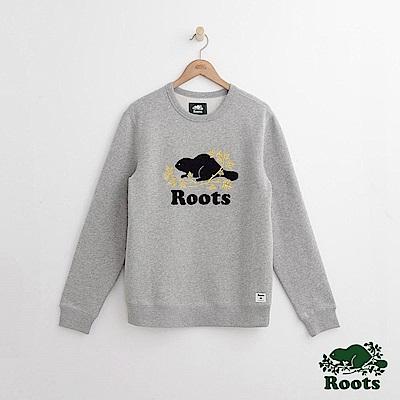 Roots 男裝- 周年系列 庫柏楓葉圓領上衣-灰