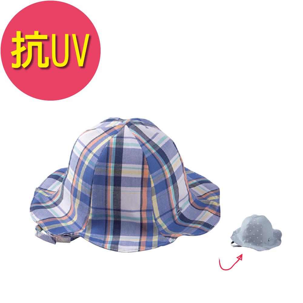日本雜誌款-幼兒抗UV雙面遮陽帽/漁夫帽