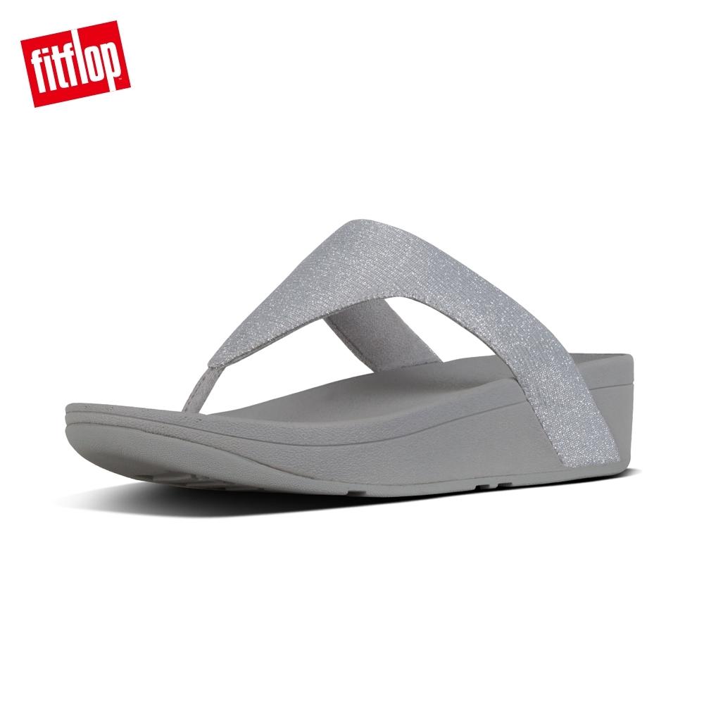 FitFlop LOTTIE TOE-THONGS 經典水鑽夾腳涼鞋-女(銀色)