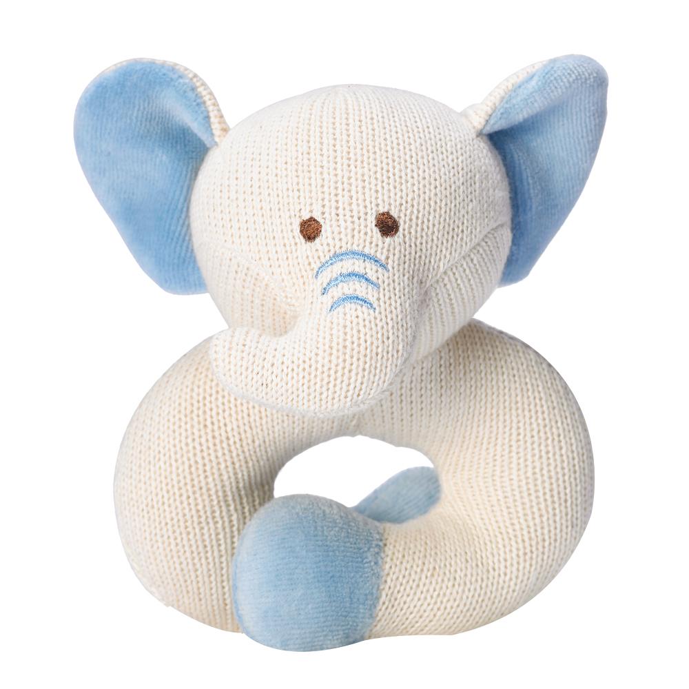 美國miYim有機棉 固齒器 手圈圈款-象象
