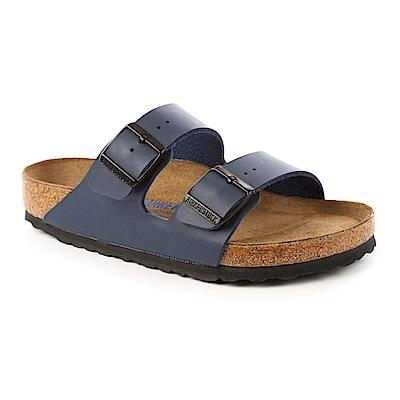 勃肯BIRKENSTOCK 051061。ARIZONA亞利桑那 經典二條拖鞋(藍)