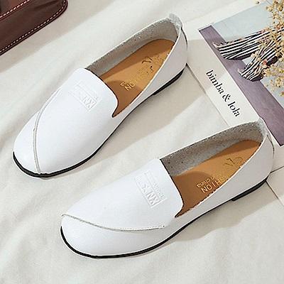 韓國KW美鞋館 韓式名媛歐美主流平底鞋-白色