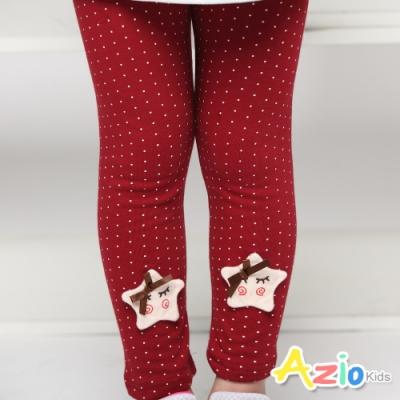 Azio Kids 女童 內搭褲 滿版點點星星蝴蝶結內搭褲 (紅)