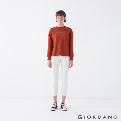GIORDANO 女裝OUR HOME落肩上衣 - 12 赭石紅