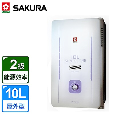 櫻花牌 10L屋外型熱水器 GH-1005(天然瓦斯) 限北北基桃中高配送
