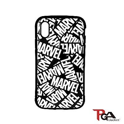 iPhone XS/X 5.8吋 MARVEL 軍規防摔 雙料殼-Logo(黑)