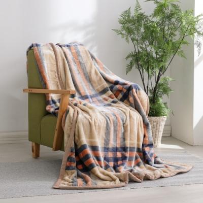 LAMINA 法蘭絨加厚雙面極暖細柔雲毯-英倫格紋