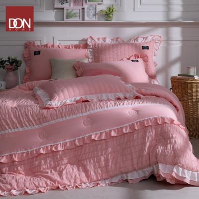 DON香榭粉 雲朵絨韓式床罩六件組