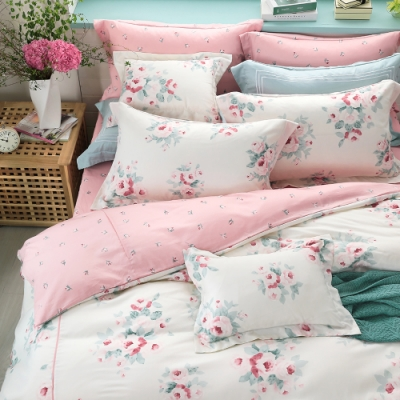 OLIVIA Kathleen 粉 標準雙人床包歐式枕套三件組 棉天絲系列 台灣製