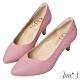 Ann'S舒適療癒系低跟版-V型美腿綿羊皮尖頭跟鞋-紫(版型偏小) product thumbnail 1