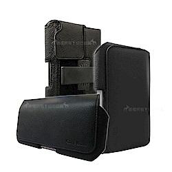 魅力紳黑 iPhone/HTC/ASUS/三星/SONY 6~6.5吋旋轉磁扣手機腰包皮套