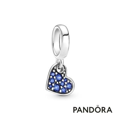 【Pandora官方直營】星藍密鑲寶石傾心吊飾