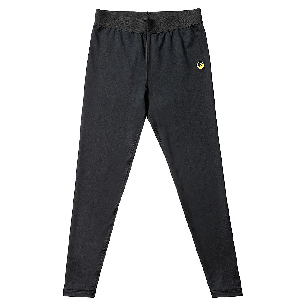 【hilltop山頂鳥】童款吸濕快乾消臭抗UV彈性內搭褲A0C05黑美人