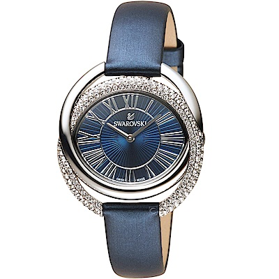 SWAROVSKI施華洛世奇The Duo永恆交環時尚錶(5484376)-藍