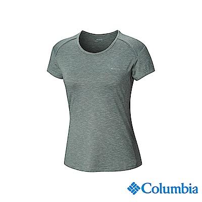 Columbia 哥倫比亞女款-UPF50快排短袖上衣-綠色 UEL12830GR