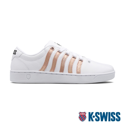 K-SWISS Court Pro Curves時尚運動鞋-女-白/玫瑰金