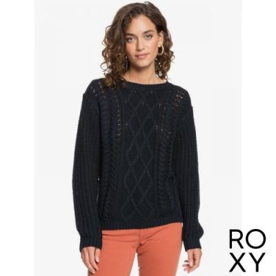 【ROXY】ENGLAND SKIES 針織毛線衣 黑色