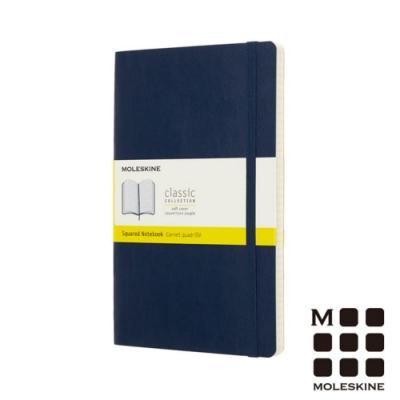 MOLESKINE 經典寶藍色硬殼筆記本(口袋型)-點線