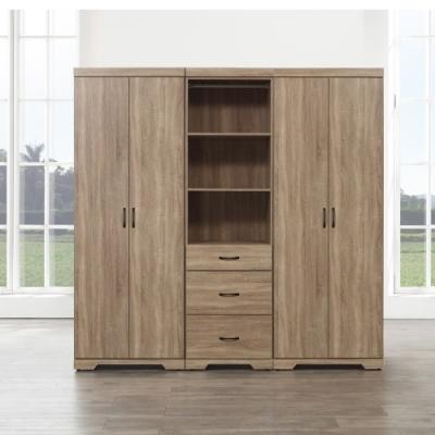 MUNA 艾曼7X7尺三抽隔板衣櫥(共兩色)  210X55X203cm
