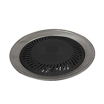 金德恩 台灣製造 不沾導油設計不鏽鋼25cm煎烤盤