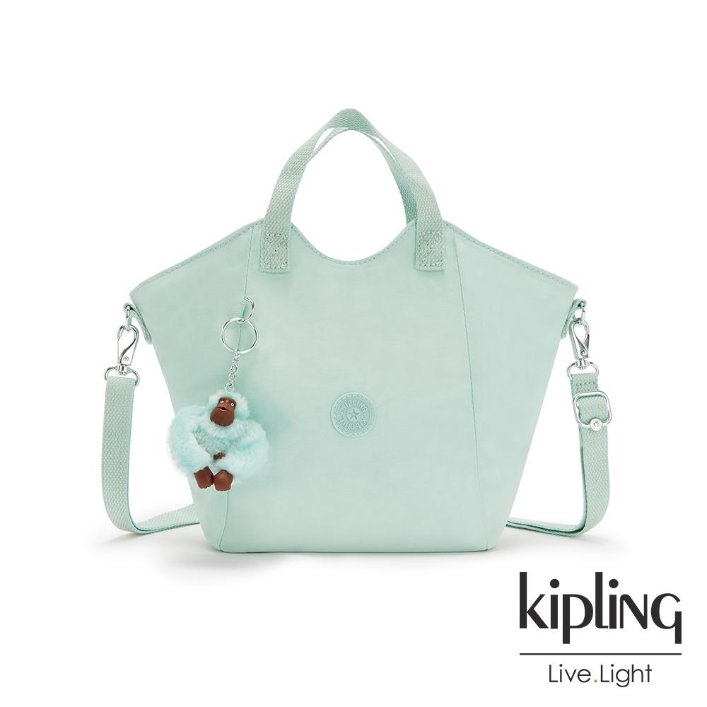 Kipling 神秘薄荷藍輕盈手提斜背包-NORI