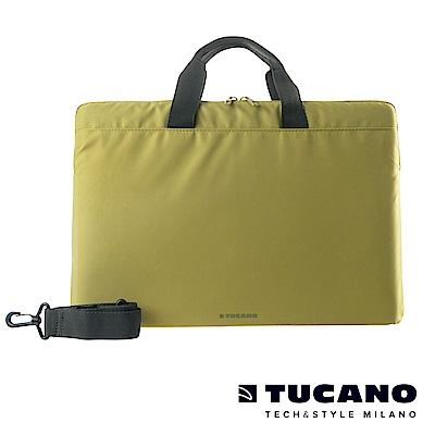 TUCANO MINILUX 極簡輕便尼龍手提內袋 15.6吋(可側背)-草綠