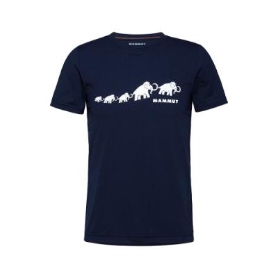 【Mammut 長毛象】QD Logo Print T-Shirt AF Men 輕便短T 男款 海洋藍PRT3 #1017-02011