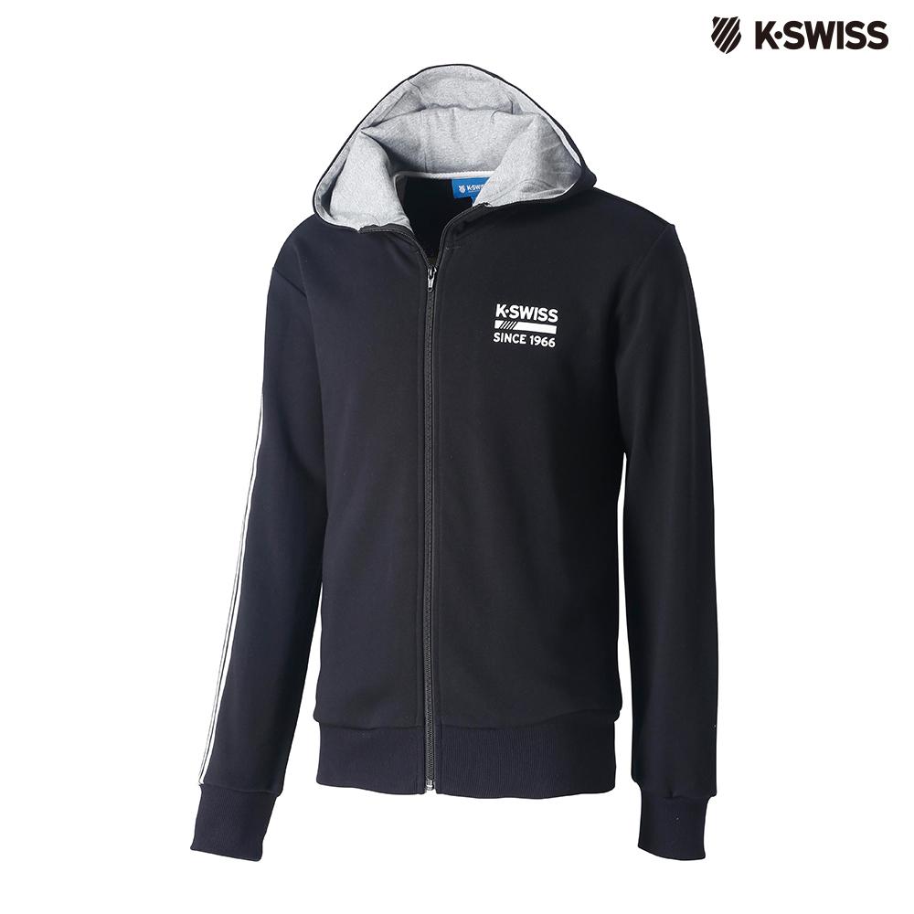K-SWISS High Front Hoodie JKT連帽外套-男-黑 @ Y!購物