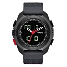 NIXON 科技城市多功能電子腕錶-黑X紅(A12673251)/47mm