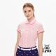 【Lynx Golf】女款吸汗速乾網眼襯衫式貓咪繡花短袖POLO衫-粉色 product thumbnail 2
