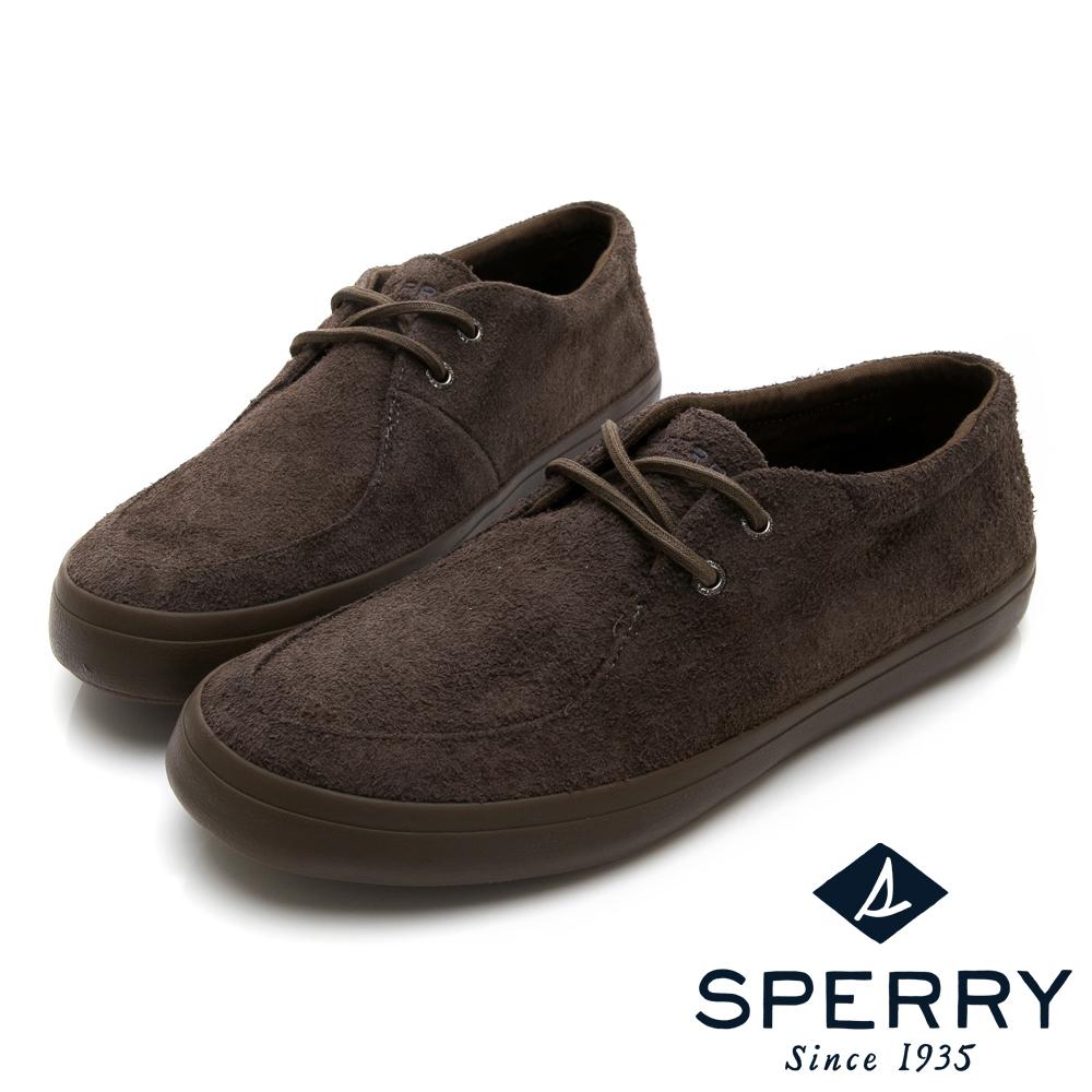 SPERRY 冬感麂皮紳士麂皮休閒鞋(男)-橄欖綠