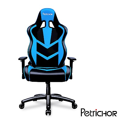 PetriCHOR 帕瑞克 幻影系列_3D競速超快感電競賽車椅-黑與藍協奏曲