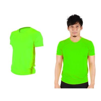 HODARLA 男女 FLARE 100 吸濕排汗衫 螢光綠