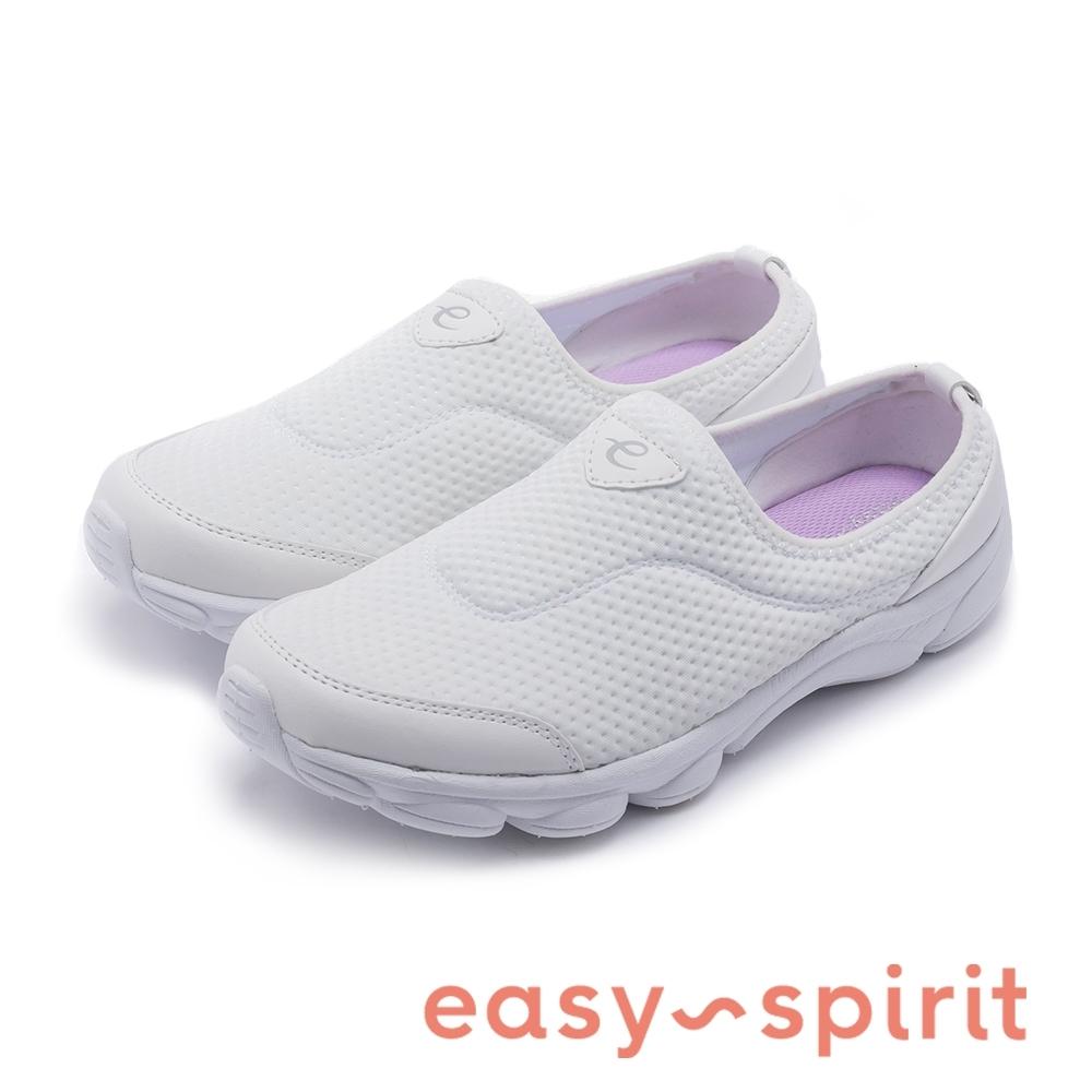 Easy Spirit-seRANGE2-A 彈性極佳經典透氣休閒鞋-白色