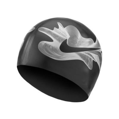 NIKE SHIFT 成人矽膠泳帽 黑 NESSA204-001