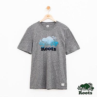 男裝Roots 漸層海狸短袖T恤-灰
