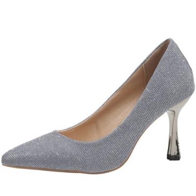 KEITH-WILL時尚鞋館 年度精選閃耀經典細跟鞋-銀