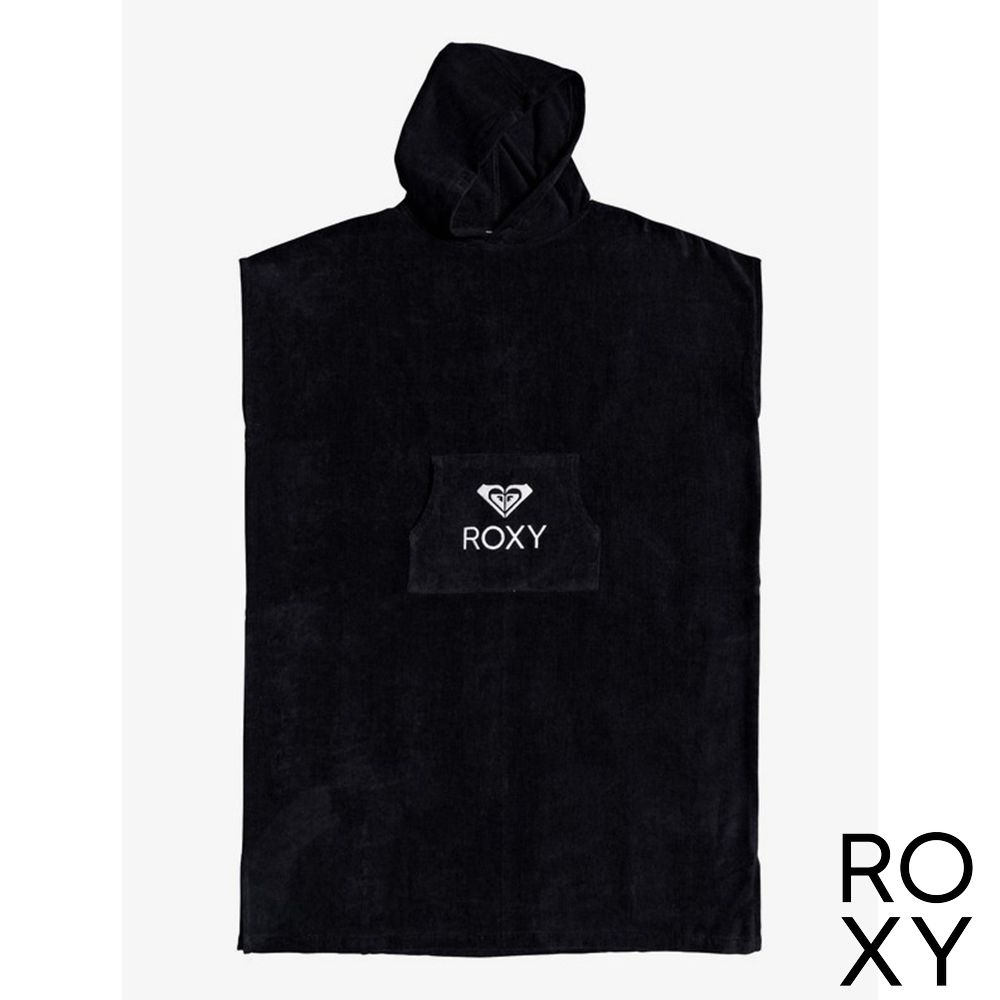 【ROXY】STAY MAGICAL SOLID 浴巾衣 黑色