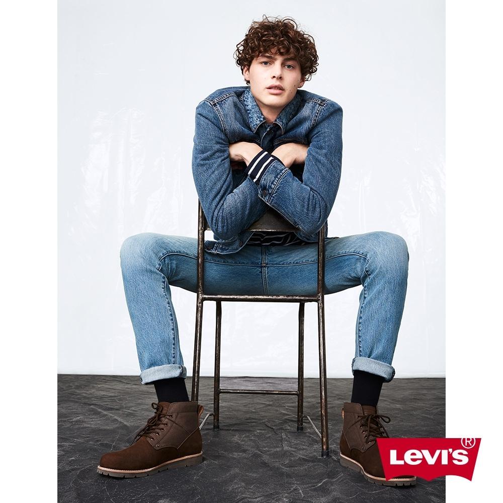 Levis 男款 牛仔外套/經典修身版型/格紋法藍絨內裏/Thermolite保暖科技