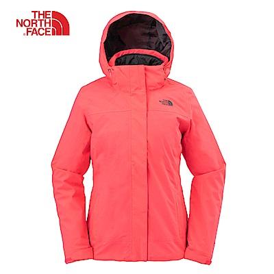 The North Face北面女款粉紅色保暖防風三合一夾克| 3 L 947 BS