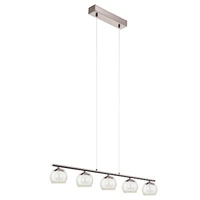 EGLO歐風燈飾 現代風玻璃五燈式吊燈