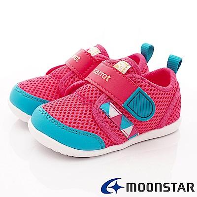 日本Carrot機能童鞋 2E玩耍系列速乾鞋款 ON124粉(小童段)